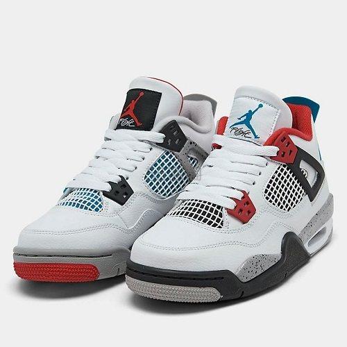 乔丹 Air Jordan 4 What The 大童款篮球鞋 红蓝鸳鸯 0(约976元) - 海淘优惠海淘折扣|55海淘网