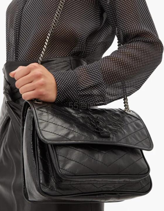 SAINT LAURENT Niki 黑色中号包包 €1,736(约13,575元) - 海淘优惠海淘折扣|55海淘网