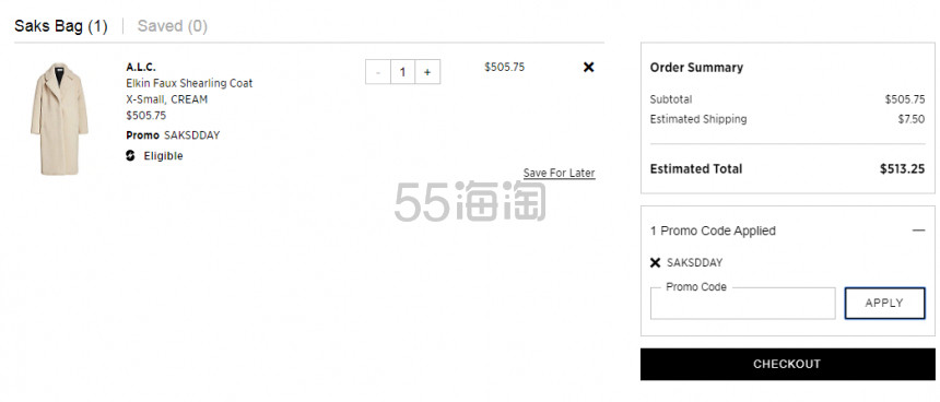 Saks Fifth Avenue:全场 时尚品牌服饰鞋包 8.5折、美妆护肤9折 - 海淘优惠海淘折扣|55海淘网
