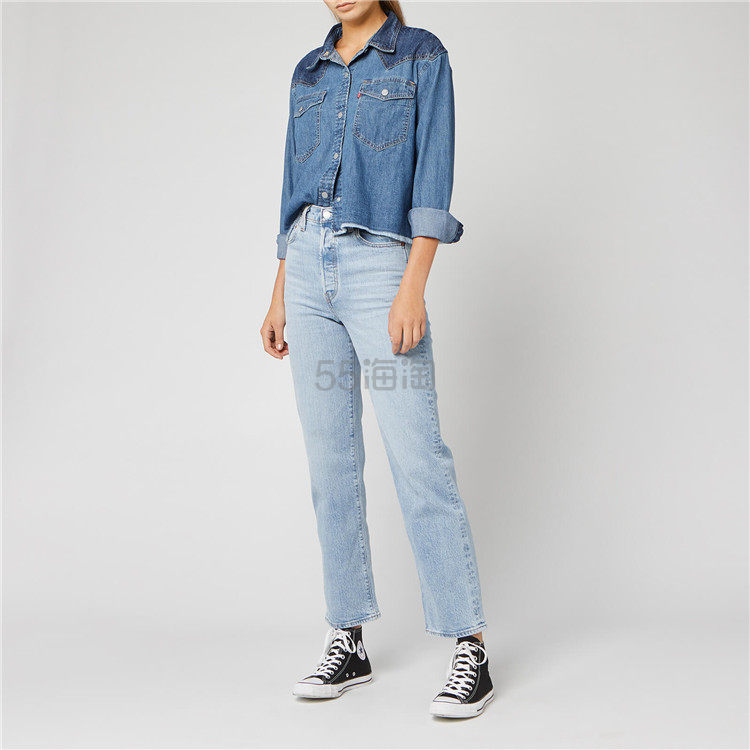 Levis 李维斯 Mirella 女士短款牛仔衬衫夹克 ¥361.2 - 海淘优惠海淘折扣|55海淘网