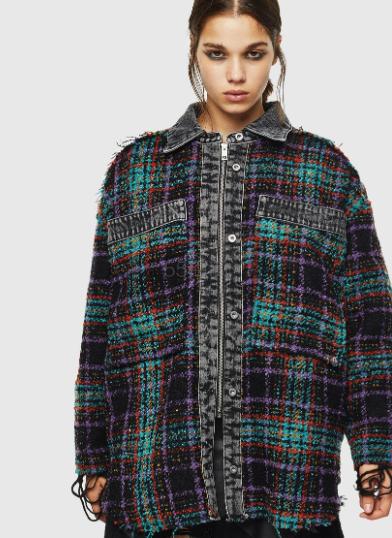 Diesel 彩色格纹毛呢衬衫夹克 3(约1,680元) - 海淘优惠海淘折扣 55海淘网