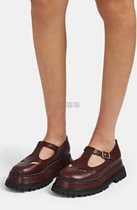 大码福利!Burberry 博柏利 Leather Mary Jane Flats 玛丽珍