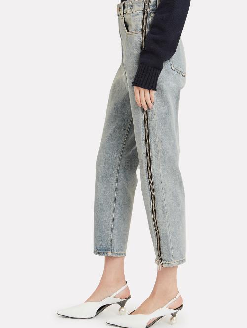 3.1 PHILLIP LIM 拉链装饰直筒牛仔裤