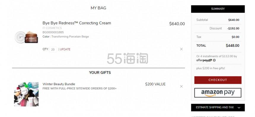 凑单享7折+送价值0好礼!It Cosmetics 拜拜红血丝 CC霜 .4(约155元) - 海淘优惠海淘折扣|55海淘网
