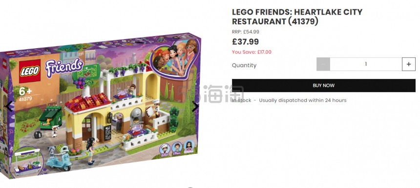 LEGO 乐高 好朋友系列 心湖城意大利餐厅(41379) £37.99(约345元) - 海淘优惠海淘折扣|55海淘网