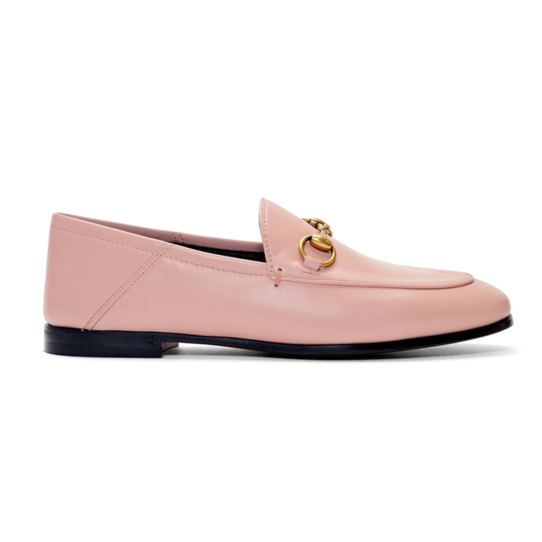 SSENSE:Gucci pink loafers