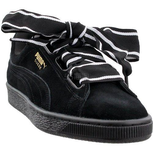 Puma 彪马 Suede Heart 黑色绒面蝴蝶结运动鞋 .95(约172元) - 海淘优惠海淘折扣 55海淘网