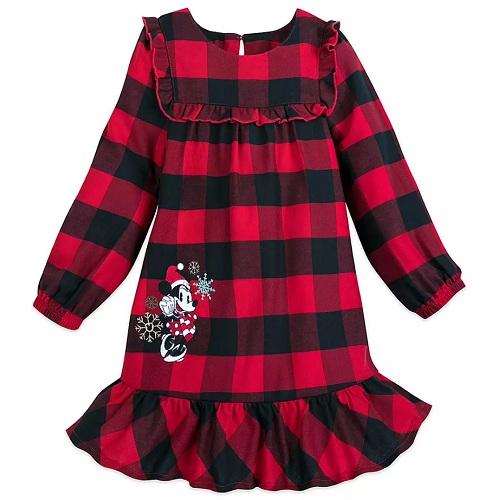 近期低价!Disney 迪士尼 米妮假日女孩格子睡衣