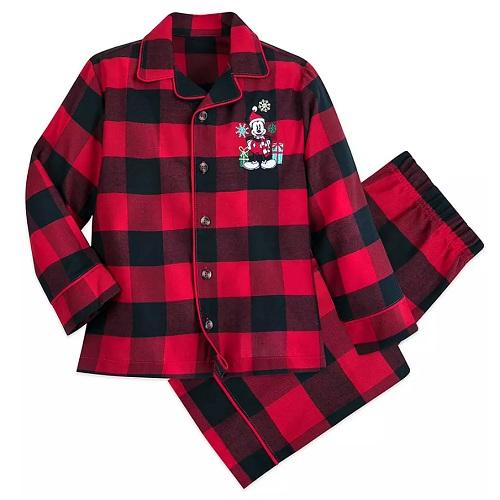 Disney 迪士尼 米奇假日男孩格子睡衣套装