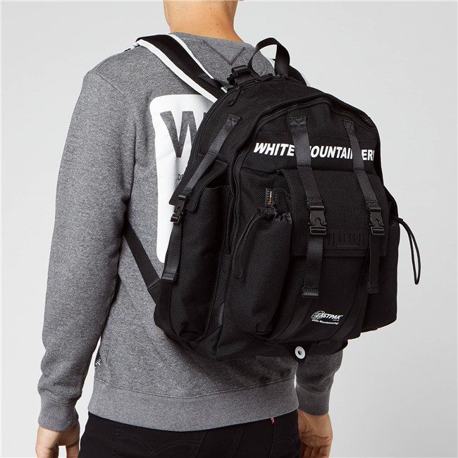 Eastpak X White Mountaineering 男士机能风帆布双肩包