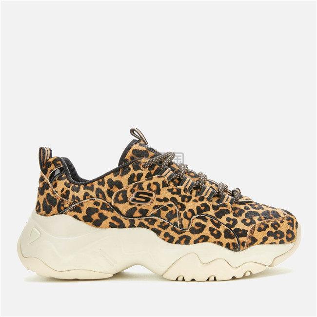 【码全】Skechers 斯凯奇  DLites 3.0 女款豹纹老爹鞋跑鞋 ¥455.8 - 海淘优惠海淘折扣 55海淘网