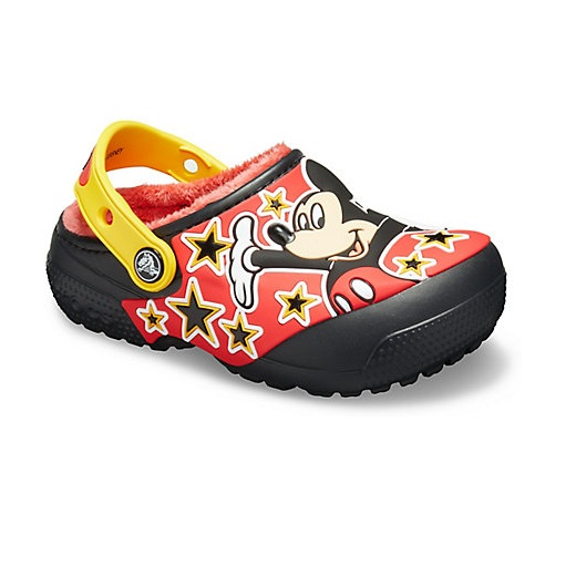 Crocs 卡骆驰官网 Fun Lab Disney Mickey Mouse 米奇加绒洞洞鞋
