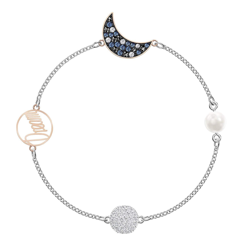 近期好价!Swarovski 施华洛世奇 蓝色珍珠星月水晶手链 5490934