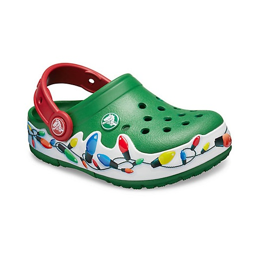 Crocs 卡骆驰官网 Kids Lights Holiday Clog 洞洞鞋