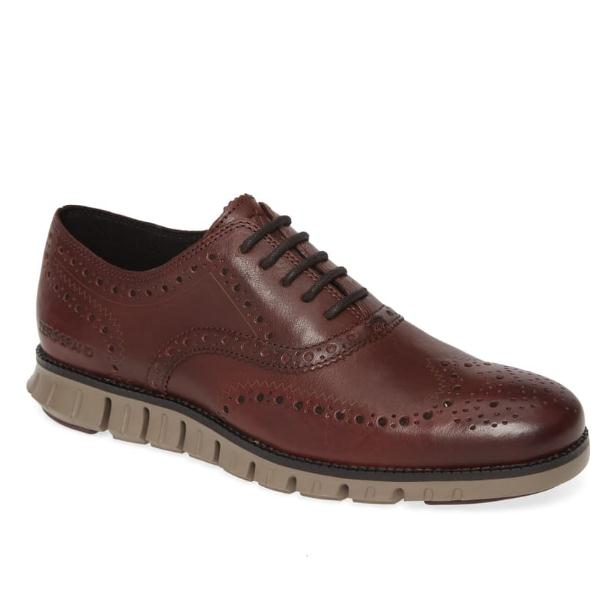 COLE HAAN ZeroGrand Wingtip Derby 男士德比鞋