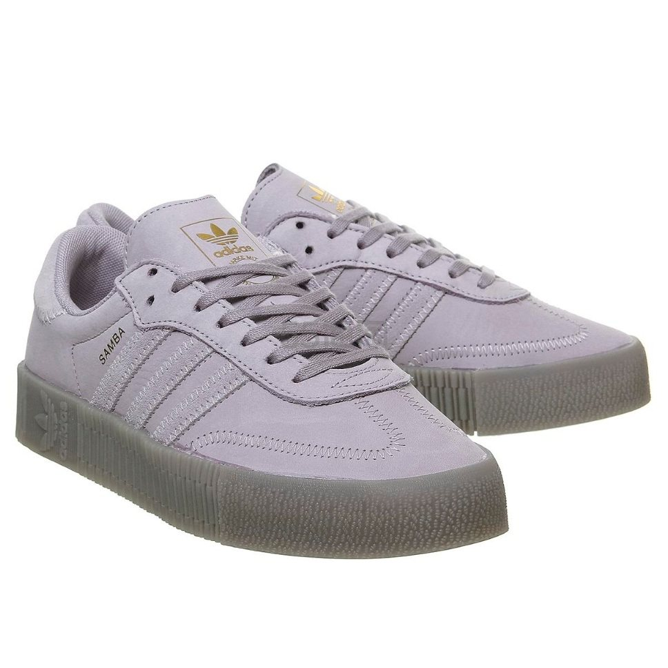 Adidas 阿迪达斯 Samba Rose 灰紫色休闲鞋 £55(约497元) - 海淘优惠海淘折扣 55海淘网