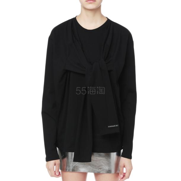 【额外满¥8000-¥1200】ANNAKIKI 饰系结圆领卫衣 ¥839 - 海淘优惠海淘折扣|55海淘网