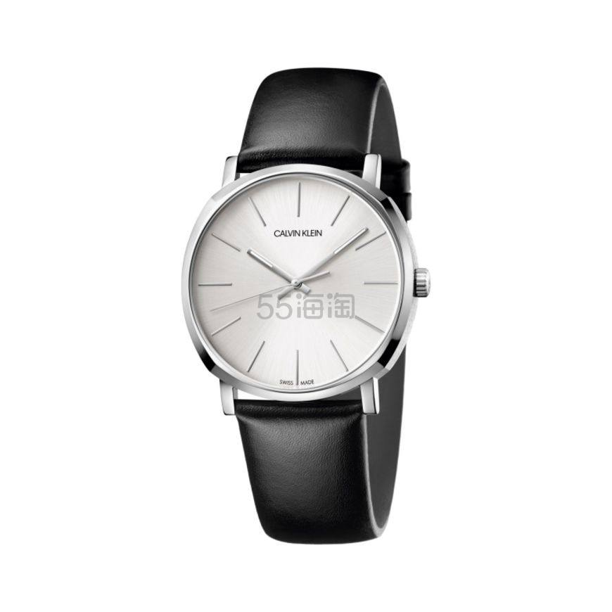 Calvin Klein 卡尔文·克莱因 Posh 系列 银黑色男士时装腕表 K8Q311C6 (约307元) - 海淘优惠海淘折扣|55海淘网