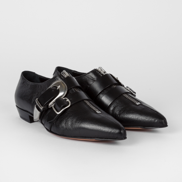 Paul Smith 官网 Black Grained Leather Wild 黑色尖头皮鞋
