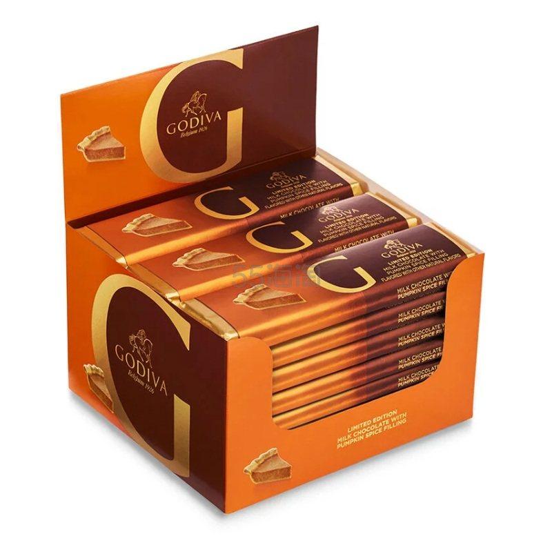 Godiva 歌帝梵 南瓜牛奶巧克力排块 24个