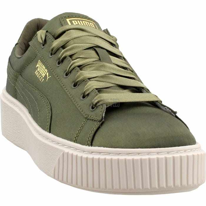 Puma 彪马 橄榄绿色缎面运动鞋 .95(约272元) - 海淘优惠海淘折扣|55海淘网