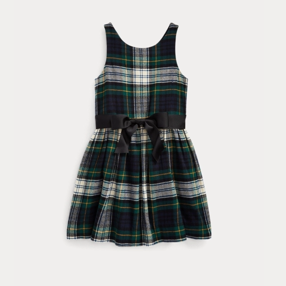 Ralph Lauren 拉夫劳伦官网 Tartan Cotton Twill Dress 2-6岁格纹连衣裙