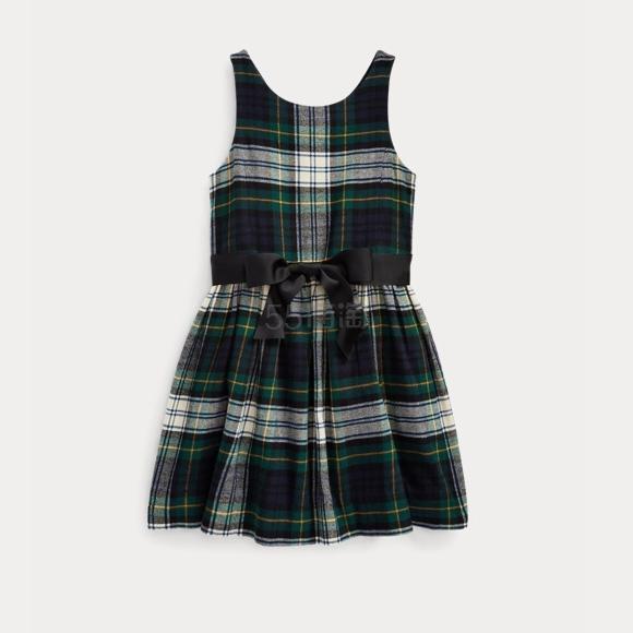 Ralph Lauren 拉夫劳伦官网 Tartan Cotton Twill Dress 2-6岁格纹连衣裙 .98(约170元) - 海淘优惠海淘折扣|55海淘网