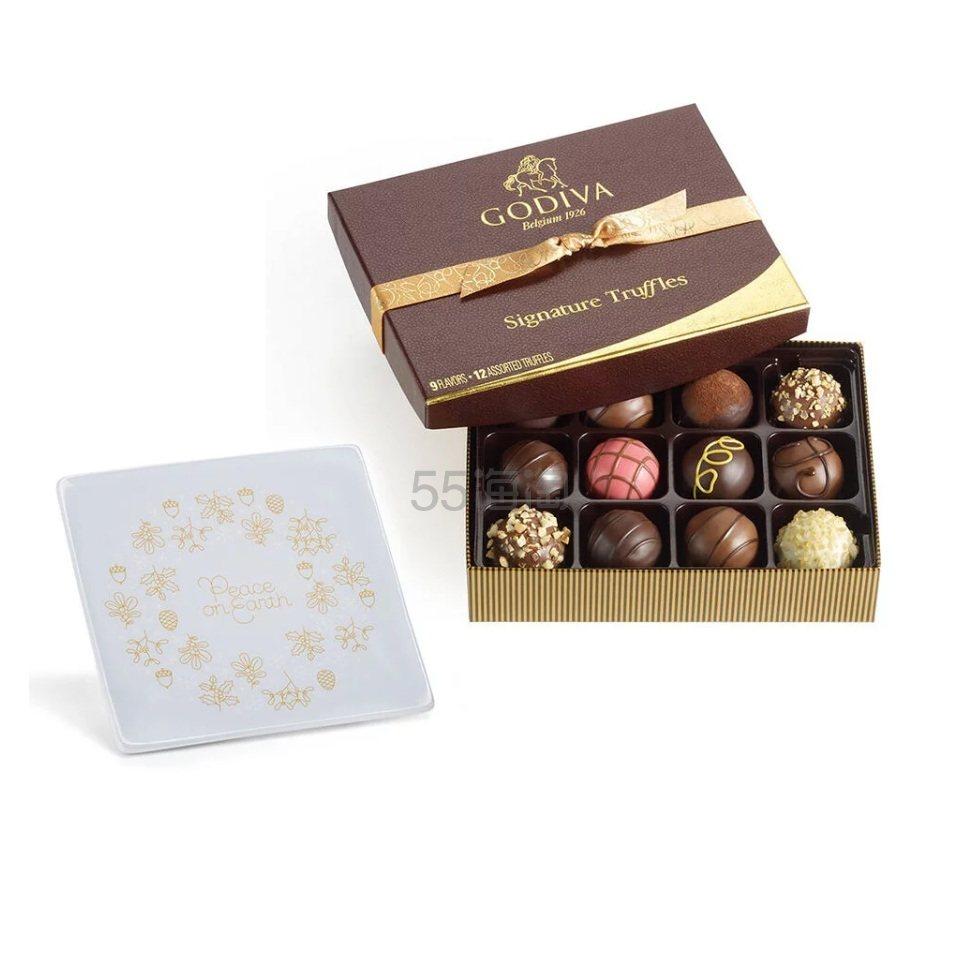 Godiva 歌帝梵 巧克力松露礼品盒+托盘