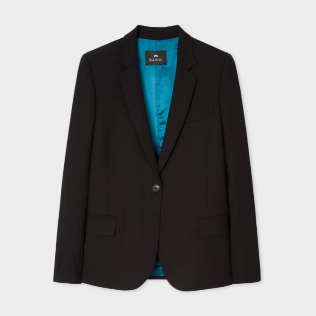 Paul Smith 官网 Wool-Hopsack Blazer With Cheetah 羊毛西服