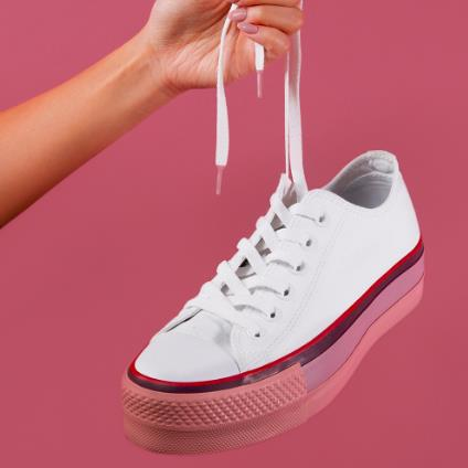 Converse 匡威 All Star x OPI 联名款 女子厚底帆布鞋