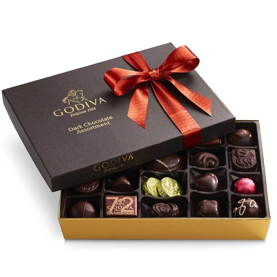 Godiva 歌帝梵 黑巧克力什锦礼品盒 27颗 .95(约231元) - 海淘优惠海淘折扣|55海淘网