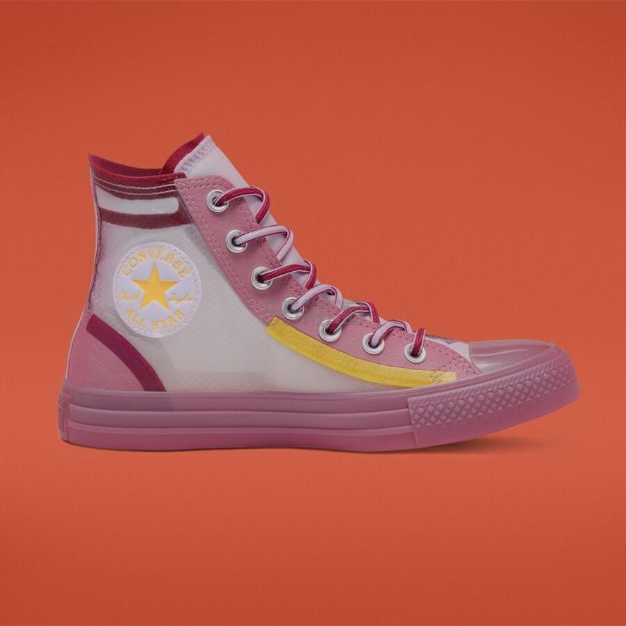 Converse 匡威 All Star 粉色半透明高帮鞋 .23(约281元) - 海淘优惠海淘折扣|55海淘网