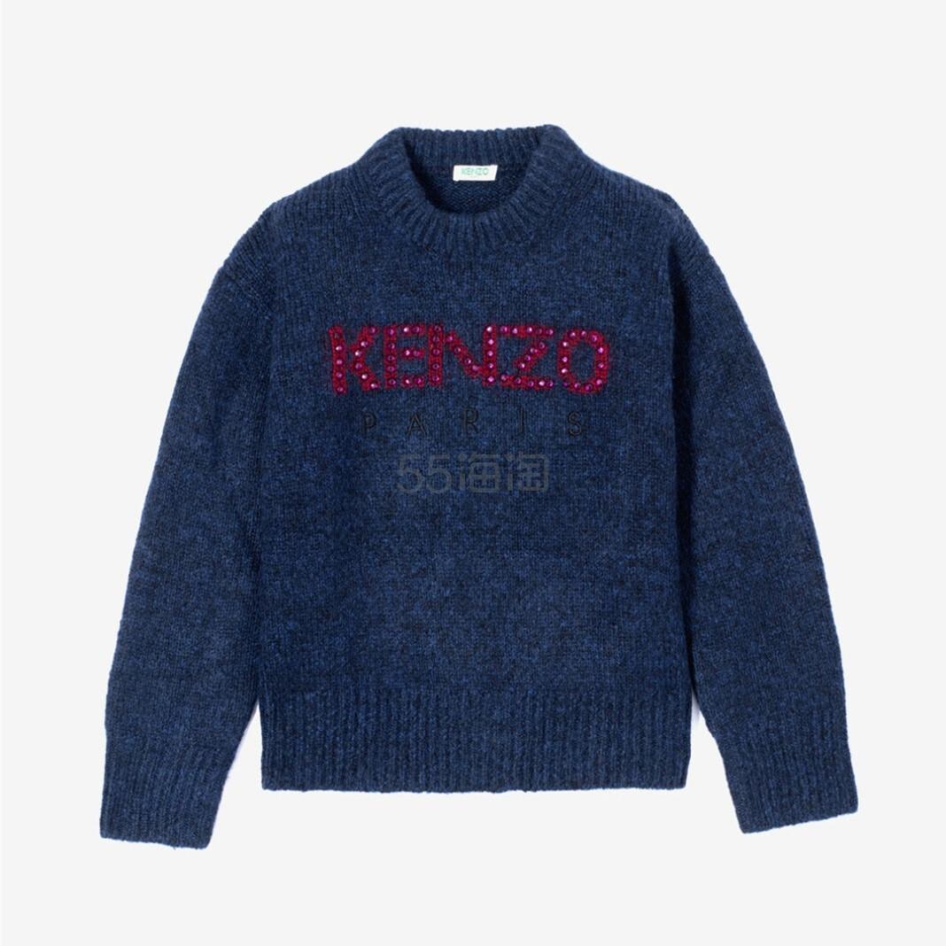 KENZO 藏蓝长袖宽松毛衣 5(约1,260元) - 海淘优惠海淘折扣|55海淘网