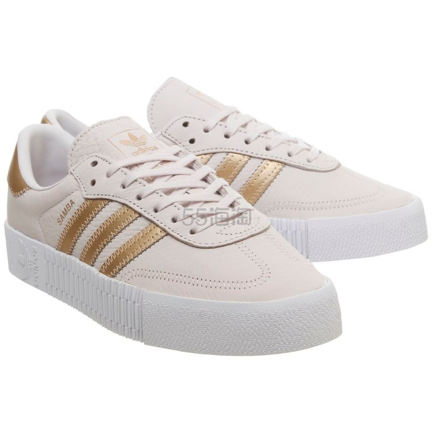 Adidas 阿迪达斯 Samba Rose 浅粉金色休闲鞋 £50(约449元) - 海淘优惠海淘折扣|55海淘网