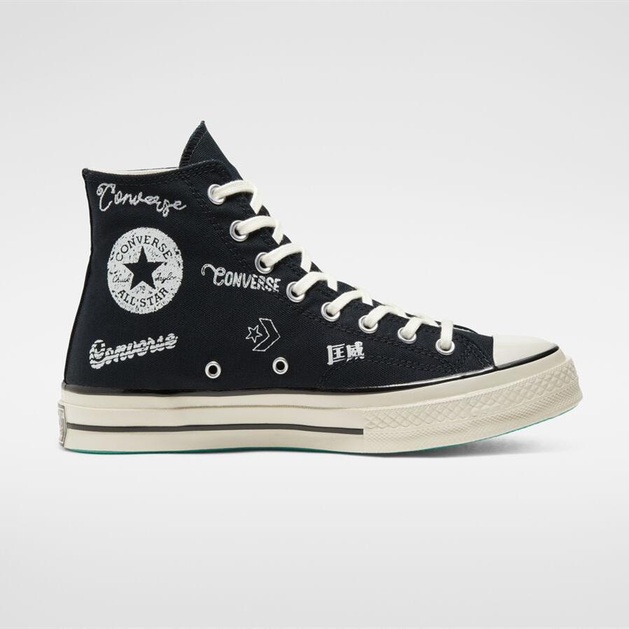 Converse 匡威 Chuck 70 黑色徽标高帮鞋