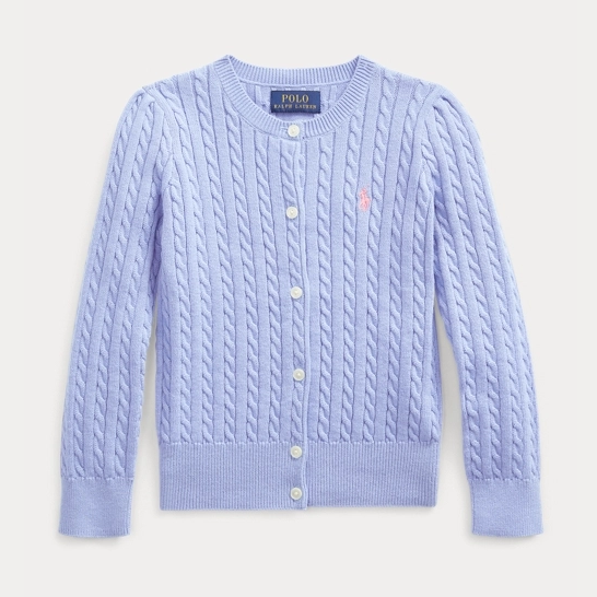 Ralph Lauren 拉夫劳伦官网 Cable-Knit Cotton Cardigan 小童开衫