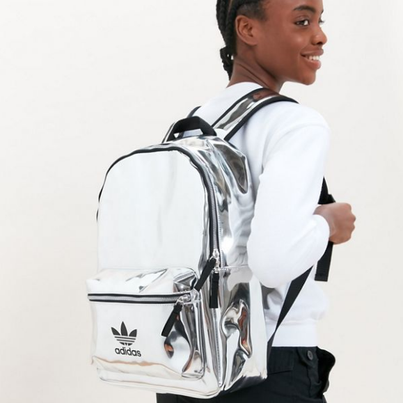 adidas Originals 阿迪达斯三叶草 Mini Metallic Backpack 金属镭射双肩包