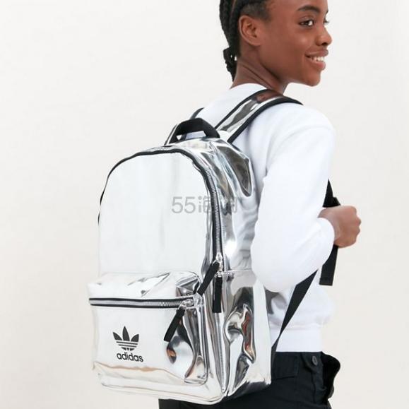 adidas Originals 阿迪达斯三叶草 Mini Metallic Backpack 金属镭射双肩包 .99(约143元) - 海淘优惠海淘折扣|55海淘网