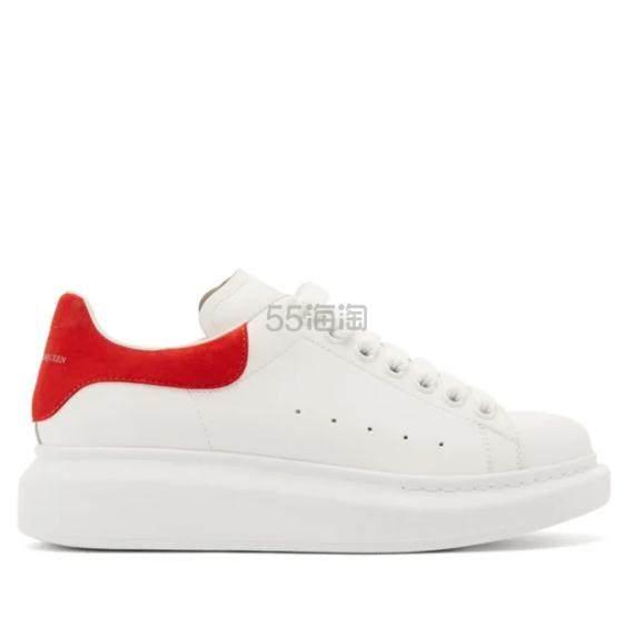 ALEXANDER MCQUEEN 厚底红尾小白鞋