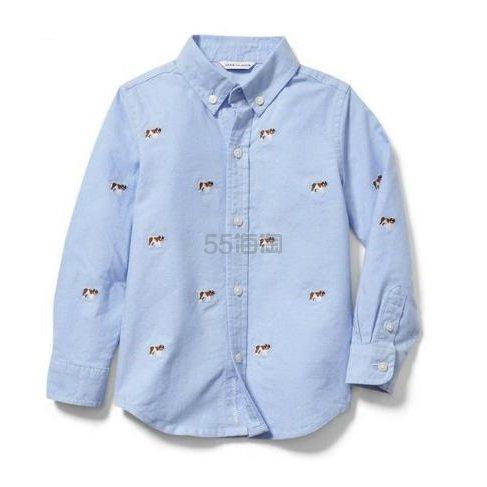 Janie and Jack 童款蓝色衬衫 .39(约98元) - 海淘优惠海淘折扣|55海淘网