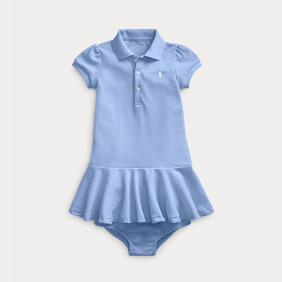 Ralph Lauren 拉夫劳伦官网 Piqué Polo Dress & Bloomer 女婴polo套装