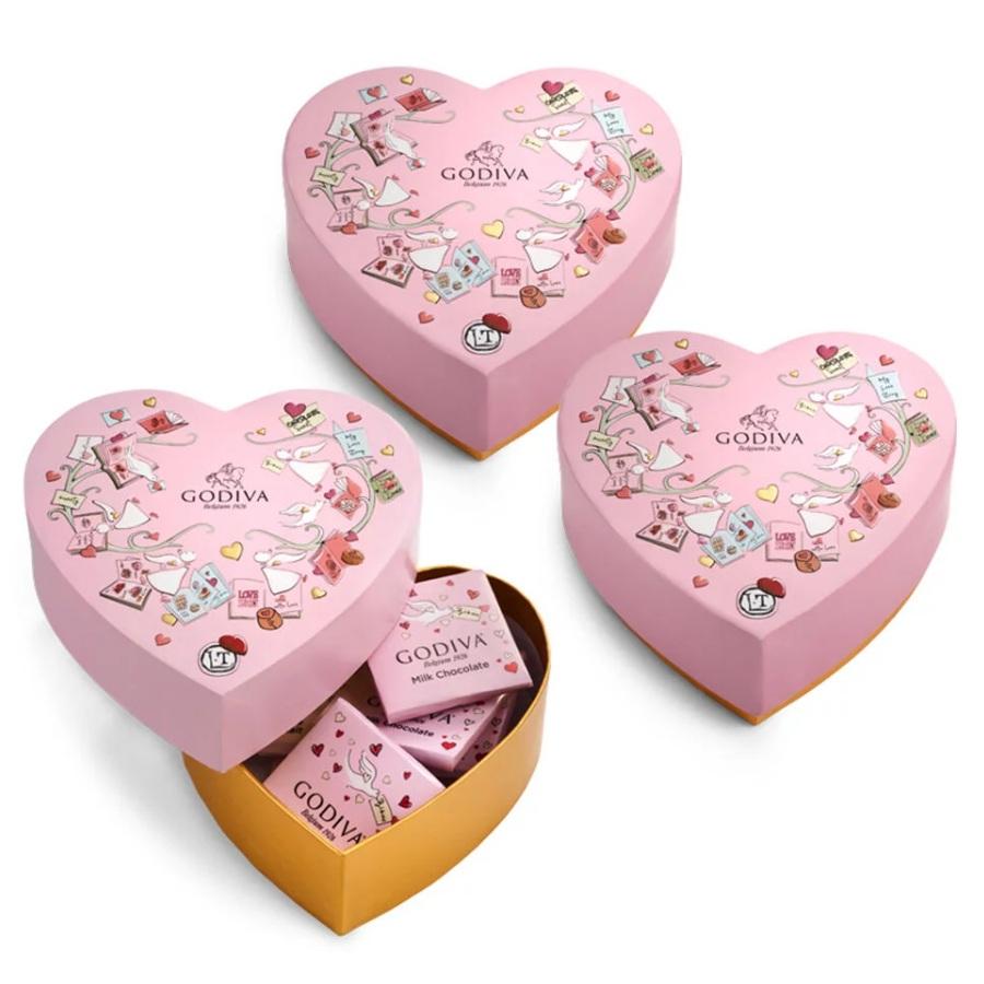 Godiva 歌帝梵 限量版迷你巧克力心形礼盒 3件套 6颗/件