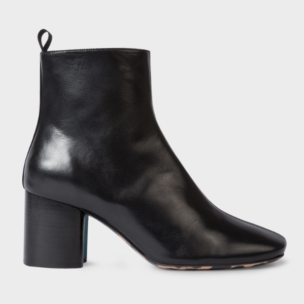 Paul Smith 官网 Black Leather Moss 女士高跟皮靴