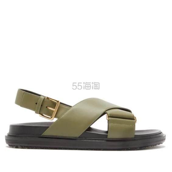 MARNI Fussbett 女款真皮凉鞋 €416.5(约3,169元) - 海淘优惠海淘折扣|55海淘网