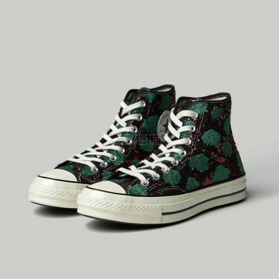 Converse Chuck 70s 绿色闪片高帮帆布鞋 .9(约128元) - 海淘优惠海淘折扣|55海淘网