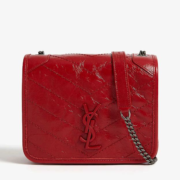 Saint Laurent Niki 正红色小号皮革链条包