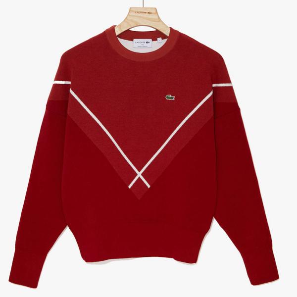 Lacoste Jacquard Crewneck Sweater 法国产毛衣