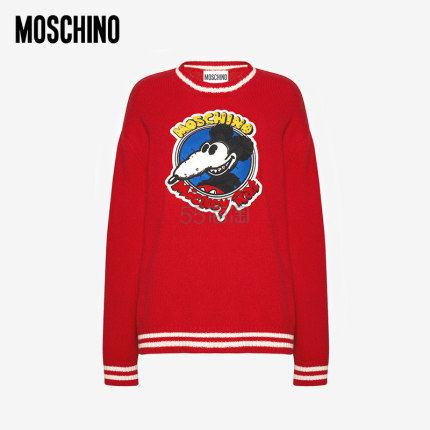 【需领券】MOSCHINO x MICKEY RAT 鼠年限量版胶囊系列 羊毛套头衫 ¥6,090 - 海淘优惠海淘折扣|55海淘网