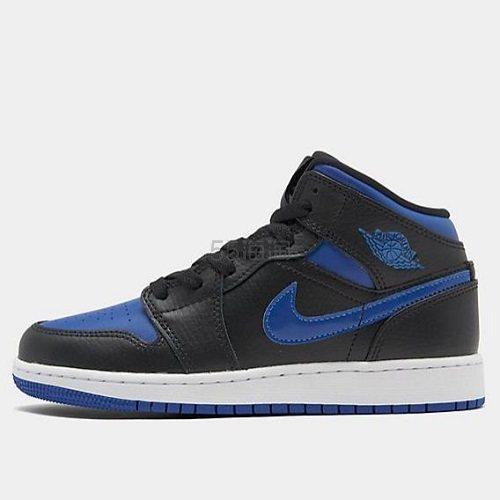 乔丹 Air Jordan 1 Mid 大童款篮球鞋 皇家蓝 .5(约574元) - 海淘优惠海淘折扣|55海淘网