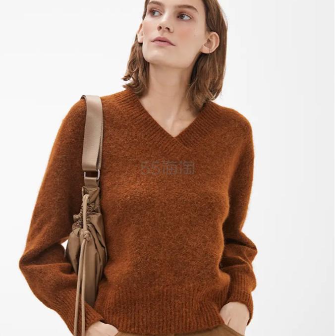ARKET V 领焦糖色针织毛衣 £48(约434元) - 海淘优惠海淘折扣|55海淘网